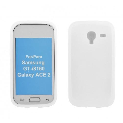 3630d0cdb90 4-Ok FTGA2B - Funda para Samsung Galaxy Ace 2, color blanco - Electrónica -  Kiwiku.com