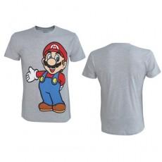 Camiseta nintendo mario gris l