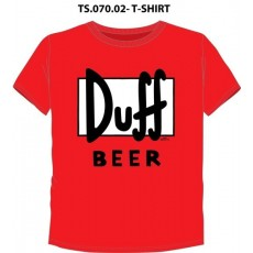 Camiseta simpsons duff roja...