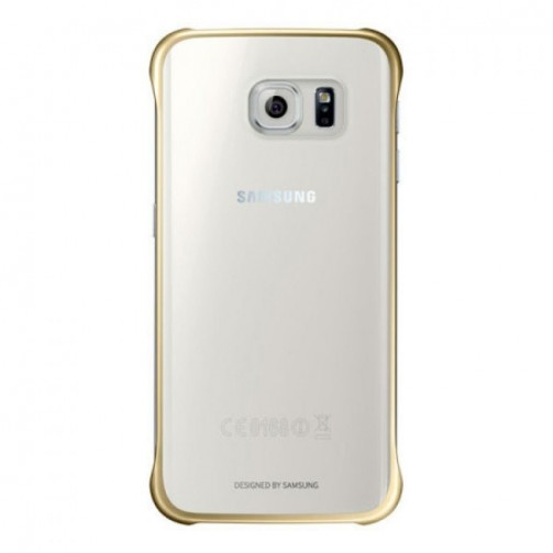 a9c1287e424 Samsung S6 Edge Clear Cover Gold, EF-QG925BFEGWW: Kiwiku.com: Electrónica