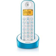 Telefono single azul y blanco
