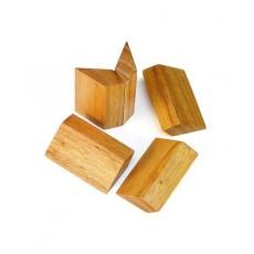 Solitario estrella madera