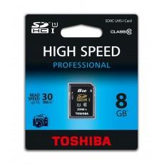 Toshiba 8gb sdhc - tarjeta...
