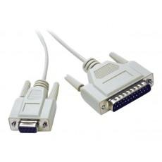 Cable de módem nulo - db-25...