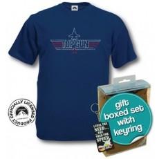 Camiseta + llavero top gun m