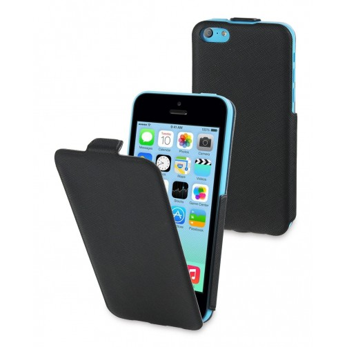 62f2cf856bf funda iflip negra + protector pantalla apple iphone 5c muvit