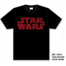 Camiseta star wars logo rojo m