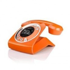 Telefono fijo sixty naranja