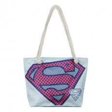 Bolso de playa superman, Azul