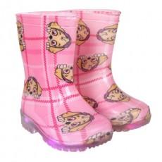Botas lluvia pvc luces paw...