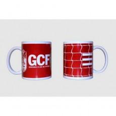 Taza ceramica roja granada c.f