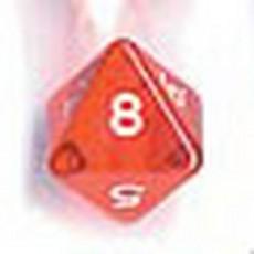 Bolsa 25 dados 8 caras gema