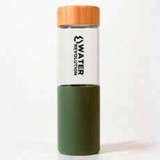 Botella verde vidrio...