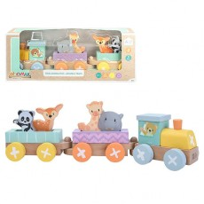 Set tren animalitos madera